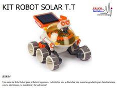 KIT ROBOT SOLAR T.T KSR14  Una serie de Kits Robot para el futuro ingeniero. ¡Monte los kits y descubra una manera agradable para familiarizarse  con la electrónica, la mecánica y la hidráulica! #productoPalco #kit #robot #educacional Solar, Kit, Toys, Engineer, Future, Activity Toys, Toy, Sun