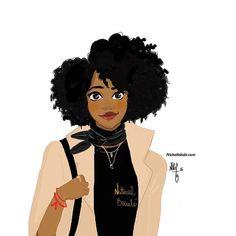 Happy Friday my Natural Beauté  #illustration #nichollekobi