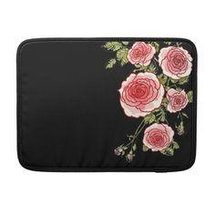 Vintage Pink Roses Macbook Pro Sleeve