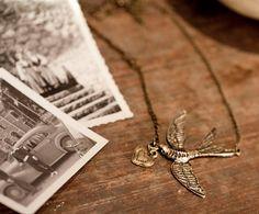 Bird & Love Necklace