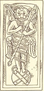 Zervan, encircled by a snake Mithraic-Persian deity. According to the orthodox teaching of Zarathushtra, Zervan is a creature of Ahura-Mazda, the God of Good. According to a second theory, however, there were originally two archetypes, that of Good and that of Evil. A separate Sassanid sect regarded Zervan Akarana, Infinite Time, as the cause and the source of all things
