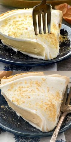 No Bake Peanut Butter Pie has a graham cracker crust or a peanut butter crust and is filled with peanut butter pudding. It's the perfect no bake pie for a crowd! Easy Cheesecake Recipes, Tart Recipes, Sweet Recipes, Dessert Recipes, Delicious Desserts, Yummy Food, Summer Pie, Peanut Butter Cheesecake, Food Garnishes