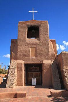 Santa Fe, New Mexico - San Miguel Chapel. Love the color of adobe.