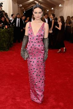 Olivia Wilde at the Met Gala 2015. Click on the image to see more looks.