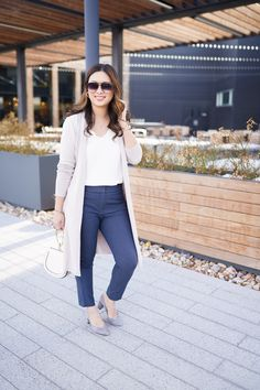 de85e3b5c9 LOFT Duster Sweater + Skinny Ankle Pant for Work