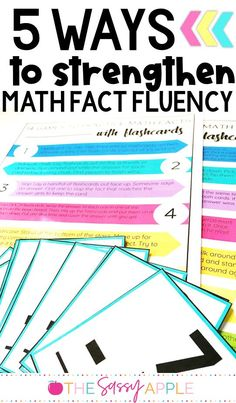 14 Math Fact Fluency Games & FREE printable flashcards! Build your students' math fact fluency with these strategies for strengthening understanding from concrete to abstract. Kindergarten Math Activities, Fun Math, Teaching Math, Number Activities, Math Strategies, Math Resources, School Resources, Math Fact Fluency, Fluency Games