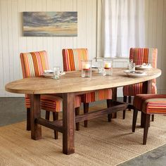LOUISVILLE OVAL DINING TABLE