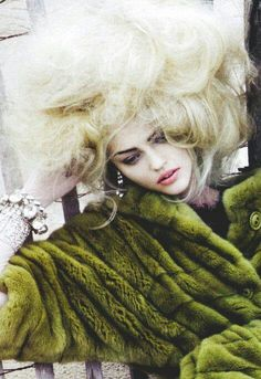 i love the contrast between the color of the hair and the coat. stunning
