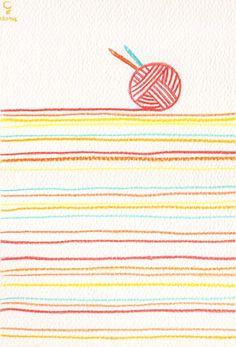 <暖呼呼> 以前喜歡玩一條條暖呼呼的毛線,現在喜歡玩一支支暖呼呼的水彩色鉛筆,原來,我的日記每一天每一頁裡都寫著暖呼呼的小幸福,120718
