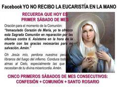 devocion de los cinco primeros sabados de mes promesa de salvacion krouillong comunion en la mano es sacrilegio stop communion in the hand