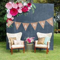 FENGRISE Just Married Mr Mrs Jute Burlap Bunting Rustic Wedding Banner Garland Party Flags Candy Bar Decoration Event Supplies