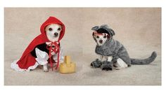 Little Red Riding Hood & Big Bad #Wolf #Costumes for #Dogs - Halloween Dog Costume