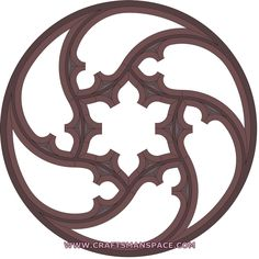 scroll saw stencils | Download Gothic tracery window pattern for free in vector art format ...