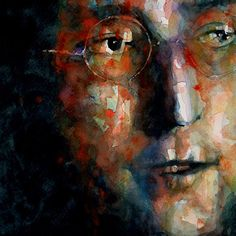 *Acuarela* Watching The Wheels by Paul Lovering