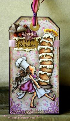 Happy Birthday #tag by Vili's Art #papercrafts #scrapbook
