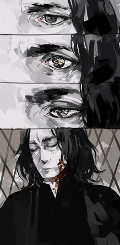 Don't, I had a plan. For me to finally have a nice family. Family can be two, a dad and his daughter so stay alive or I'll kill you. Fanart Harry Potter, Harry James Potter, Harry Potter Universal, Harry Potter Fandom, Severus Hermione, Professor Severus Snape, Severus Rogue, Hogwarts, Slytherin
