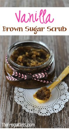 Vanilla Brown Sugar Hand and Foot Scrub! ~ from TheFrugalGirls.com ~ give your hands and feet a little TLC or make another fabulous Gift in a Jar! #diy #sugarscrubs #thefrugalgirls