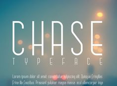 #Free #font #CHASE is a sleek and chic sans serif typeface that comes in uppercase and lowercase. Its thin slender lines allow for great legibility, perfect as both a display typeface or as simple small text. Available for personal…