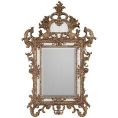 John Richard Ornate Gold Wood Frame with Center Clear