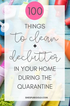 100 things to clean and declutter in your home during the quarantine - Hacks Cleaning Checklist, House Cleaning Tips, Deep Cleaning, Cleaning Hacks, Spring Cleaning Organization, Organization Hacks, Declutter Your Home, Organizing Your Home, Window Cleaner