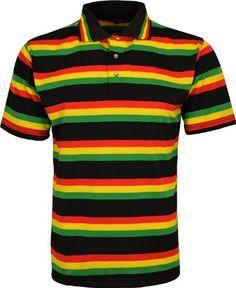 Mens Rasta T Shirt Striped Polo Shirt Lion Of Judah Colored T Shirt (Medium, Black Yellow) Raw Blue http://www.amazon.co.uk/dp/B00KI2VZP4/ref=cm_sw_r_pi_dp_VXtTub13J0X1C