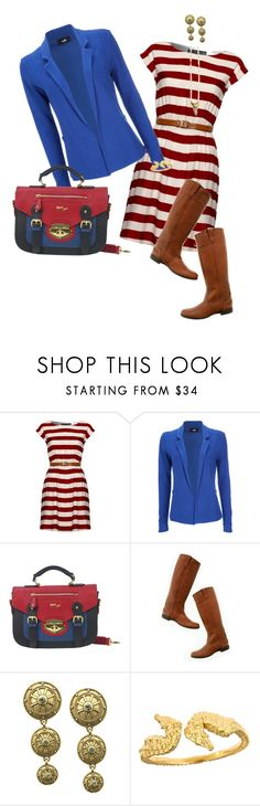 """""""Nautical mommy on the go!"""" by jnyaface ❤ liked on Polyvore featuring Mela Loves London, Wallis, Madewell, Elie Tahari, Catherine Weitzman, Tiger Lily Jewelry and affordable cute comfy clothing"""