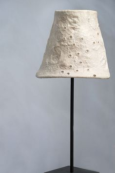 White felt lamp, by magic felt