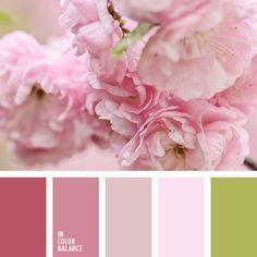 """""""пыльный"""" зеленый, алый, зеленый, красный, оттенки весны, оттенки персикового цвета, оттенки розового, персиковый, подбор цвета, розовый, тёмно-зелёный, цвета весны 2017, цветовая палитра для весны, яркие оттенки цветов вишни."""
