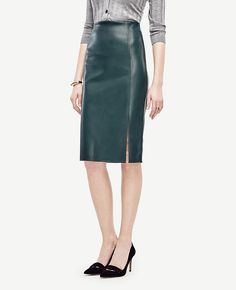 134c06cb8 Add a little edge to your wardrobe with our faux leather pencil skirt: slim  and