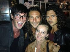 That's why I loved you... and you destroyed me — Zach McGowan and his wife, Toby Schmitz and Luke...