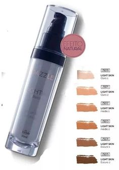 base líquida light skin - dazzle - hinode