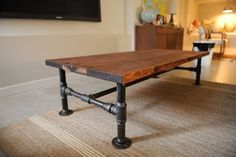 The Basement: DIY Industrial Coffee Table