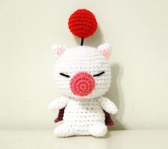 Moogle from final fantasy Amigurumi