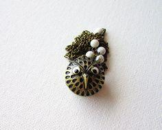 Owl Necklace Owl Pocket Watch Owl Watch Necklace Owl