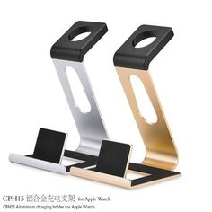 CPH15 Aluminium Alloy Multi-functional Bracket Charger Holder For Apple Watch. CPH15 Aluminium Alloy Multi-functional Bracket Charger Holder For Apple Watch     Description  This type of holder has multi-function, which is applied to Apple Watch , iPhone and iPad. Besides, it is very practical and durable. 100% Brand new and   high quality and Brand new authentic guarantee.    Specification  Brand: HOCO  Model: CPH15  Color: Gold, Silver  Material: Aerometal ABS  Skidproof Silica Gel…