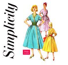 1950s Wrap Dress and Cummerbund Pattern Simplicity by CynicalGirl