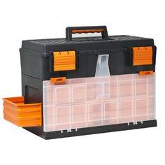 10951 Garage Storage Box 4 Organiser Trays Tool Case for Chisel Screwdriver Spanner: Amazon.co.uk: DIY & Tools