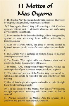 The Eleven Mottos Of Mas Oyama                                                                                                                                                                                 More