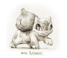 #001 Bulbasaur - Drawings of Pokémon