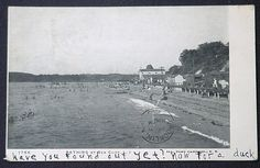 View of the Sea Cliff, Ny Bathing Beach around 1905.