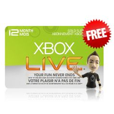 Xbox Live For Free Is Here! Visit our website and learn how you can get your Xbox Live card code for free!