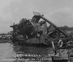 Arizona salvage progress into 1942