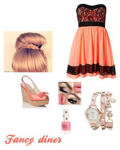 """""""Peachy keen"""" by duckdynasty ❤ liked on Polyvore featuring L.K.Bennett, Sisters Point, 2b bebe and Topshop"""