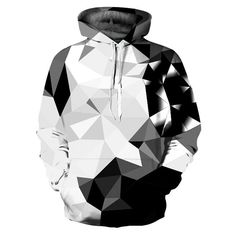 70e32f2cd0 New Fashion Argyle Color Blocks Hoodies Men Women Sweatshirts Print White  Black Diamonds Blocks Hooded Hoodies