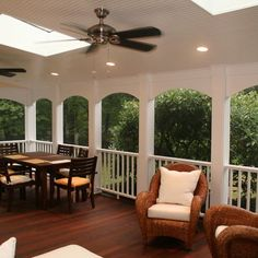 Again, how skylights would add indirect *sunlight* that the front porch otherwise might take away from the adjoining living room.