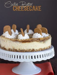 Come check out the delicious cookie butter cheesecake! It's swirled with cookie butter and topped with a cinnamon whipped cream. One of our favorites!