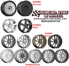 See all the new 2015 KMC wheels that are now available on our web site: http://www.hubcap-tire-wheel.com/kmc-wheels-rims.html