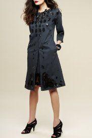 M and S Per Una Sequin Leaf Coat.