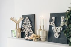 With only a few sleeps to go until Christmas we bring you this dead easy, string wall art DIY idea. We created three really simple Christmas shapes, that is sure to put you in a festive mood.