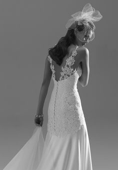 Couture wedding designer Sassi Holfords aptly named Angelina gown is so beautiful and perfect for Angelina.